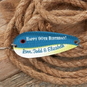 Personalized 90th Birthday Fishing Lure