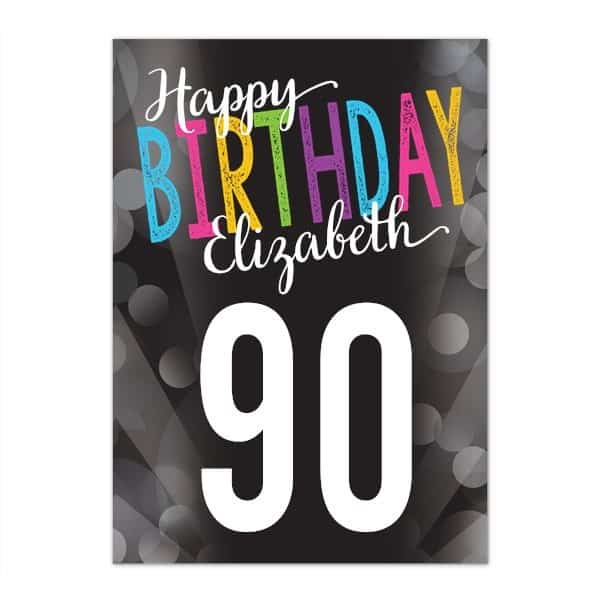 Personalized 90th Birthday Greeting Card for Women