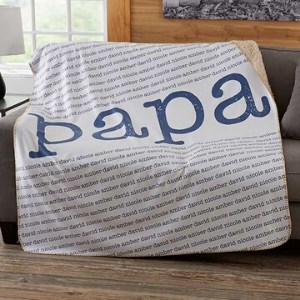 Personalized Blanket with up to 30 Names or Words