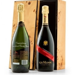 Personalized Bottle of GH Mumm Champagne