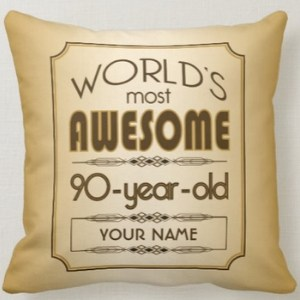 Personalized Pillow for 90 Year Old Man
