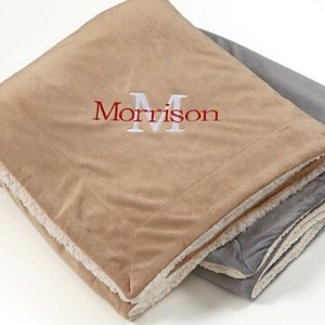 Personalized Sherpa Blanket for Men