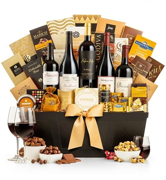 Wine & Chocolate Gift Baskets - Choice of Styles