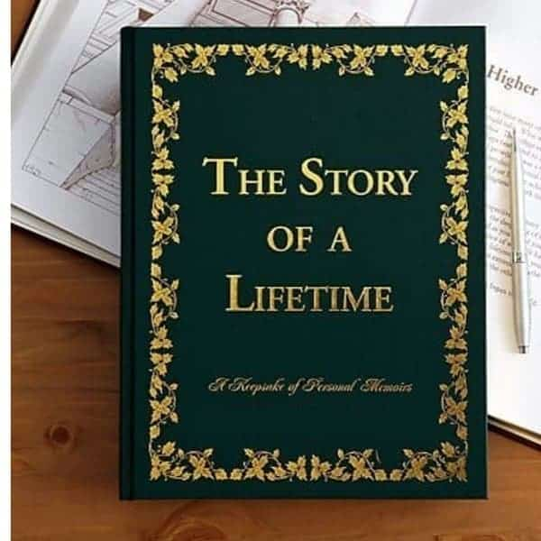 Story of a Lifetime memories book is a thoughtful gift for 90 year old female...she'll love writing down herlifetime memories!