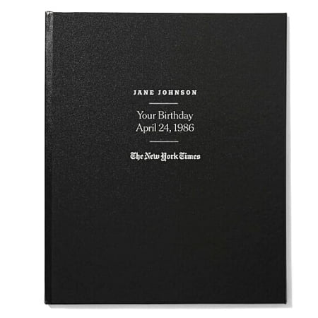 The New York Times Ultimate Birthday Book - Shopping for an impressive birthday gift for the senior man or woman who has everything? Impress them with this personalized book that features every birthday front page from their entire life! Click for ordering details.