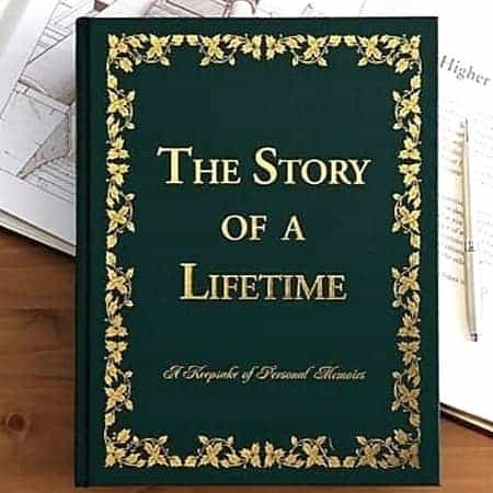 Lovely memoir book is a fabulous gift for 90 year old man or woman!